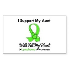 Lymphoma Support Aunt Rectangle Decal