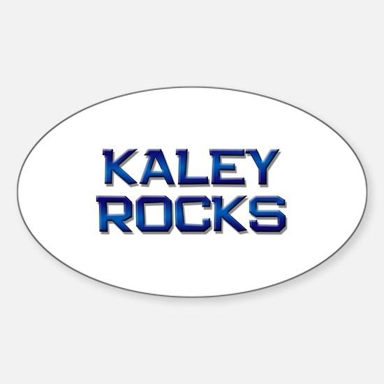 kaley rocks Oval Decal