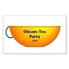 Chicago Tea Party Rectangle Decal