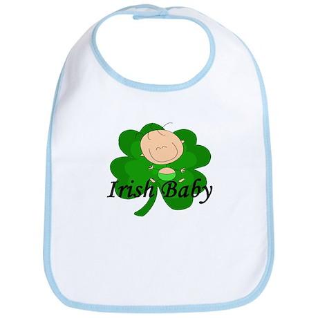 Irish Baby Shamrock Bib
