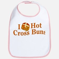 I Love Hot Cross Buns Bib