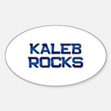 kaleb rocks Oval Decal
