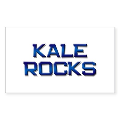 kale rocks Rectangle Sticker