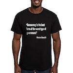 Churchill Democracy Quote Men's Fitted T-Shirt (da
