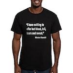Churchill Blood Sweat Tears Q Men's Fitted T-Shirt