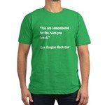 MacArthur Break Rules Quote Men's Fitted T-Shirt (
