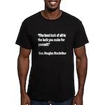 MacArthur Best Luck Quote Men's Fitted T-Shirt (da