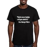 Patton Never Beaten Quote Men's Fitted T-Shirt (da
