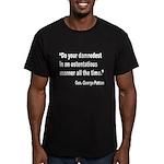 Patton Damnedest Quote Men's Fitted T-Shirt (dark)