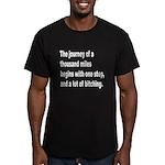 Beginning a Journey Men's Fitted T-Shirt (dark)