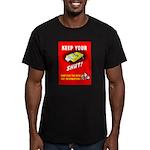 Shut Up Keep Your Trap Shut Men's Fitted T-Shirt (