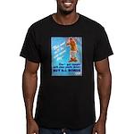 Comic Pants Down Humor Men's Fitted T-Shirt (dark)