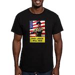 Free Labor Will Win Men's Fitted T-Shirt (dark)