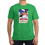 Colors Won't Run Patriot Men's Fitted T-Shirt (dar