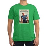 Patriotic Wounded Soldier Pos Men's Fitted T-Shirt