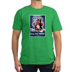 Don't Shiver Winter Poster Ar Men's Fitted T-Shirt
