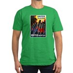 United We Win Men's Fitted T-Shirt (dark)