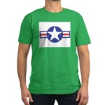 US USAF Aircraft Star Men's Fitted T-Shirt (dark)