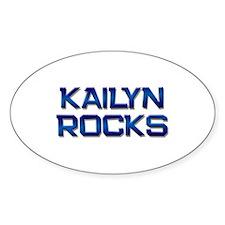 kailyn rocks Oval Decal