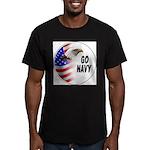 Go Navy Men's Fitted T-Shirt (dark)