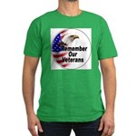 Remember Our Veterans Men's Fitted T-Shirt (dark)