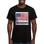American Flag Veteran Men's Fitted T-Shirt (dark)