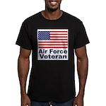 Air Force Veteran Men's Fitted T-Shirt (dark)
