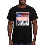 Desert Storm Veteran Men's Fitted T-Shirt (dark)