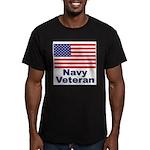 Navy Veteran Men's Fitted T-Shirt (dark)