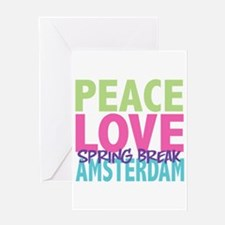 Peace Love Spring Break Amsterdam Greeting Card