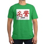 Samurai Honor Kanji Men's Fitted T-Shirt (dark)