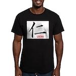 Samurai Loving Kanji Men's Fitted T-Shirt (dark)