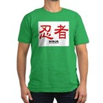 Samurai Ninja Kanji Men's Fitted T-Shirt (dark)