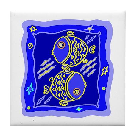 Pisces2 Tile Coaster