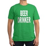 Beer Drinker Men's Fitted T-Shirt (dark)