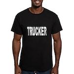 Trucker Men's Fitted T-Shirt (dark)