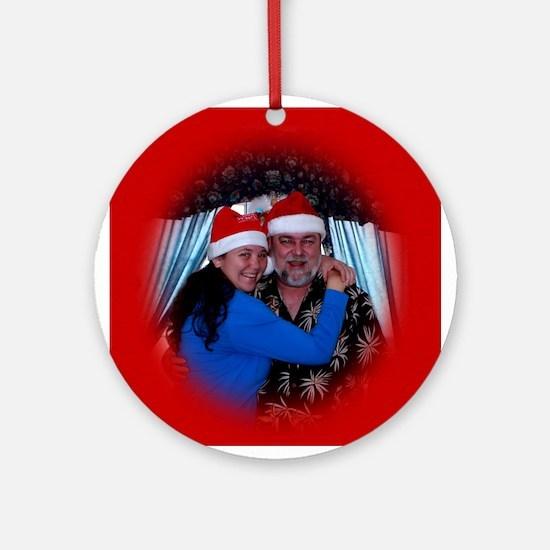 Family Christmas Ornament (Round)