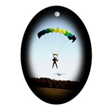 Skydiving Christmas Oval Ornament