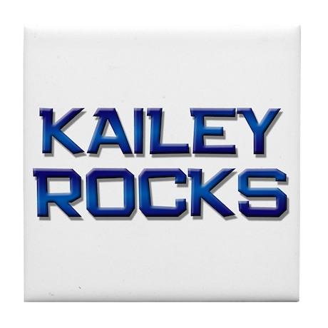 kailey rocks Tile Coaster