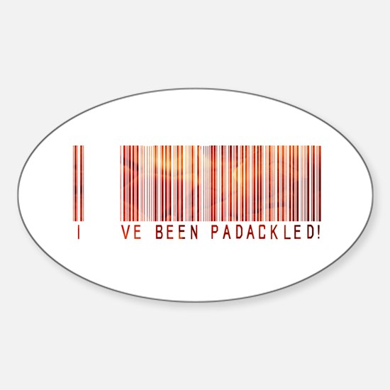 Padackled - Red Barcode Oval Decal