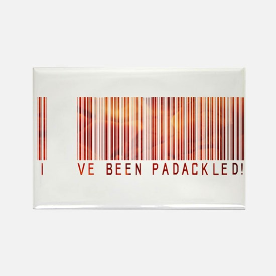 Padackled - Red Barcode Rectangle Magnet