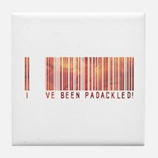 Padackled - Red Barcode Tile Coaster