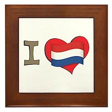 I heart Netherlands Framed Tile