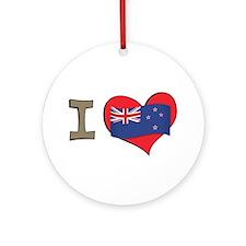 I heart New Zealand Ornament (Round)