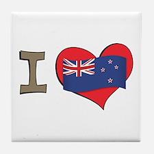 I heart New Zealand Tile Coaster