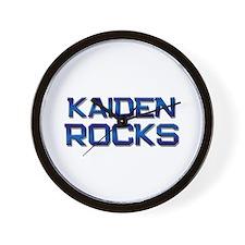 kaiden rocks Wall Clock