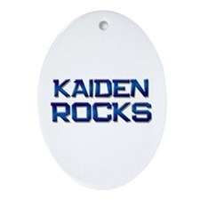 kaiden rocks Oval Ornament