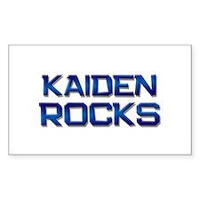 kaiden rocks Rectangle Decal