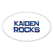 kaiden rocks Oval Decal