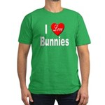 I Love Bunnies Men's Fitted T-Shirt (dark)